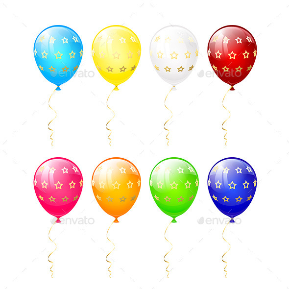 GraphicRiver Balloons with Stars 11571630