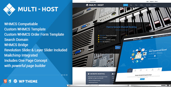 ThemeForest Multi Host Whmcs Hosting WordPress Theme 11571734