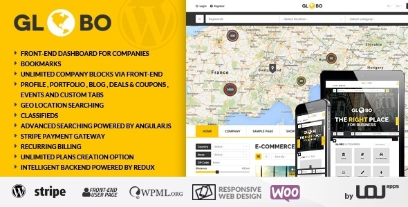 Globo - Directory Listings WordPress Theme