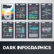 Dark Infographic Brochure Vector Elements Kit 6 - GraphicRiver Item for Sale