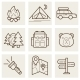 Camping and Outdoor Outline Icons - GraphicRiver Item for Sale
