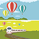 Set of Colorful Travel Banners with Flat Design - GraphicRiver Item for Sale