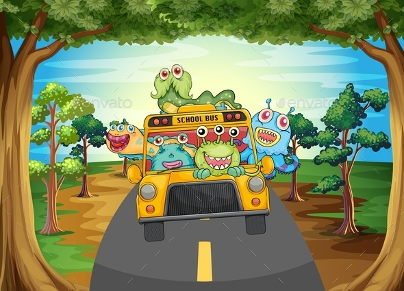 GraphicRiver Monster and Bus 11576127