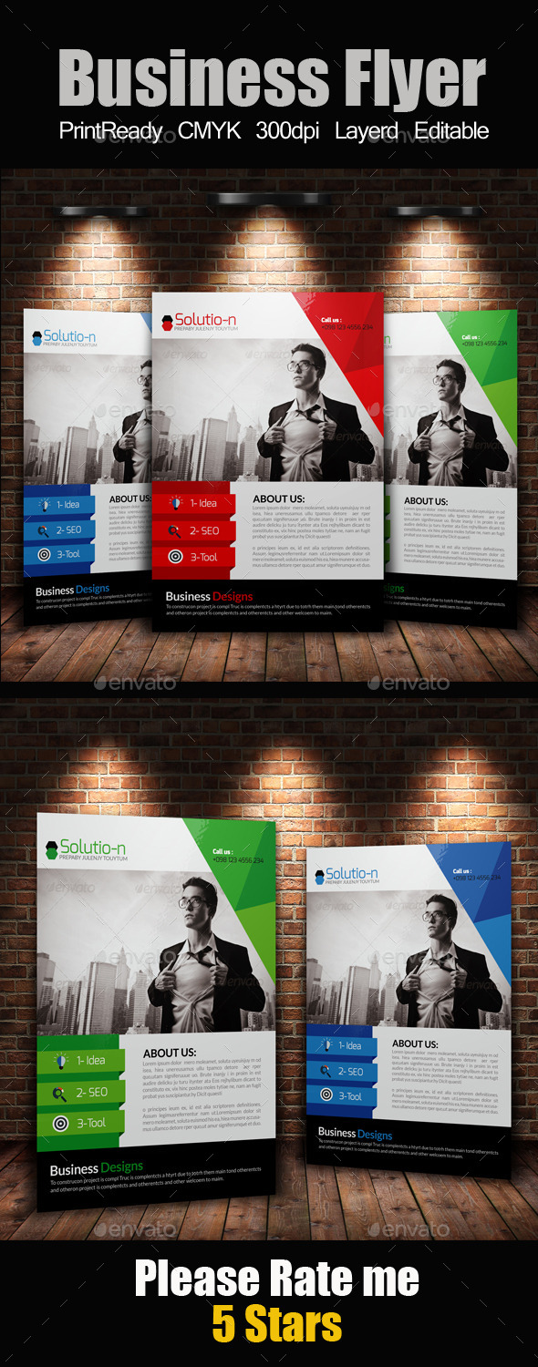 GraphicRiver A4 Business Flyer Template 11576463
