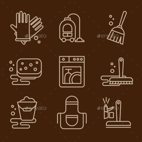 GraphicRiver Vector Icons Cleaning 11576527