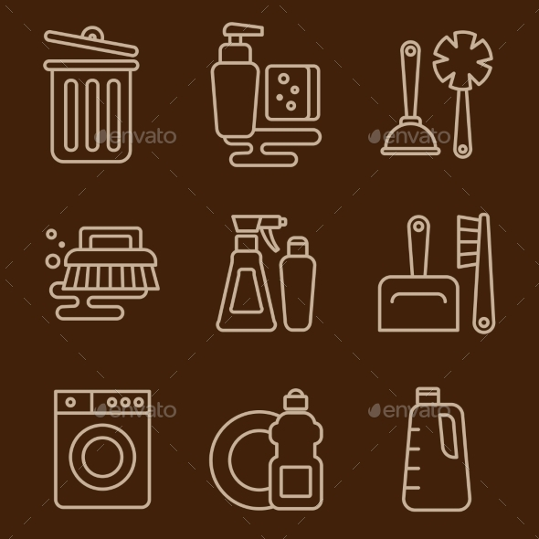 GraphicRiver Vector Icons Cleaning 11576558