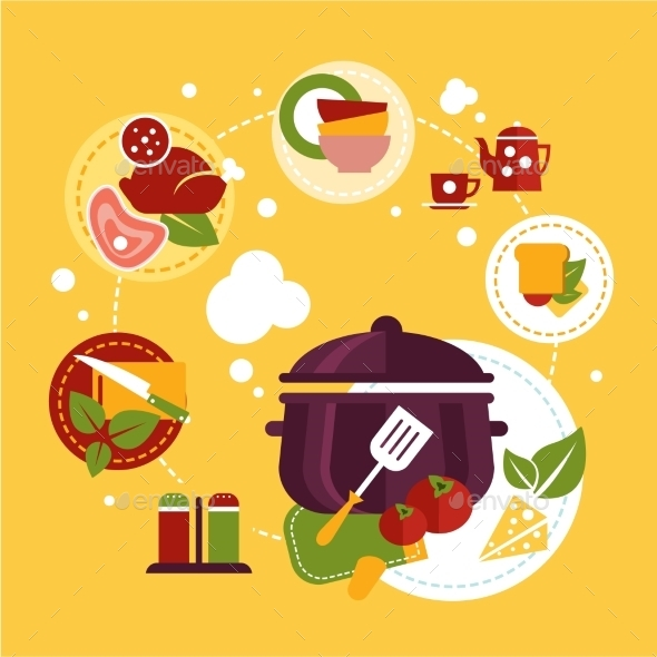 GraphicRiver Healthy Fresh Food Depicting Cooking Process 11577142