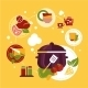 Healthy Fresh Food Depicting Cooking Process  - GraphicRiver Item for Sale