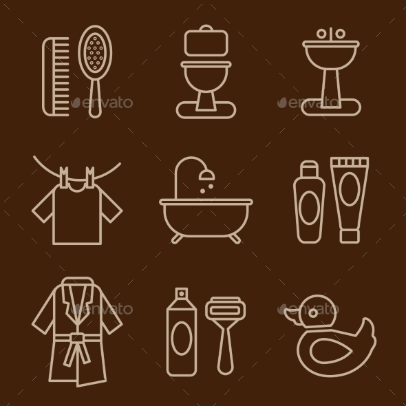GraphicRiver Set Of Icons Bathroom Vector 11577165