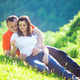 Loving couple embracing at picnic - PhotoDune Item for Sale