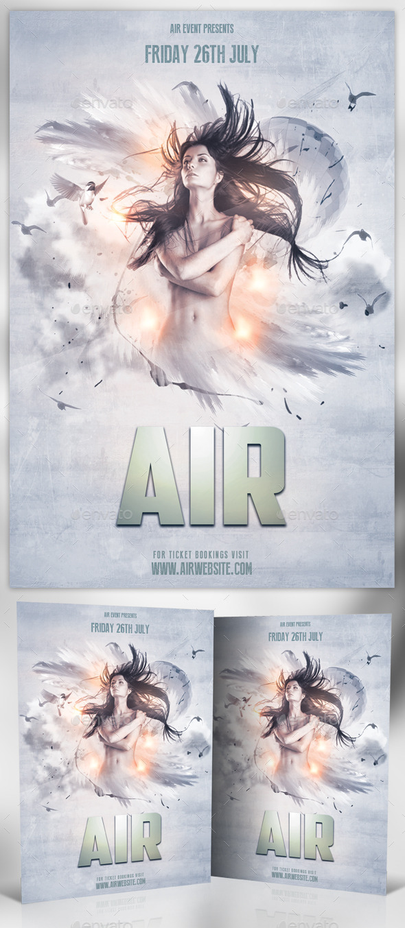 GraphicRiver Air Photoshop Flyer 11577754
