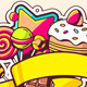Festive Pile of Sweets with Ribbon - GraphicRiver Item for Sale