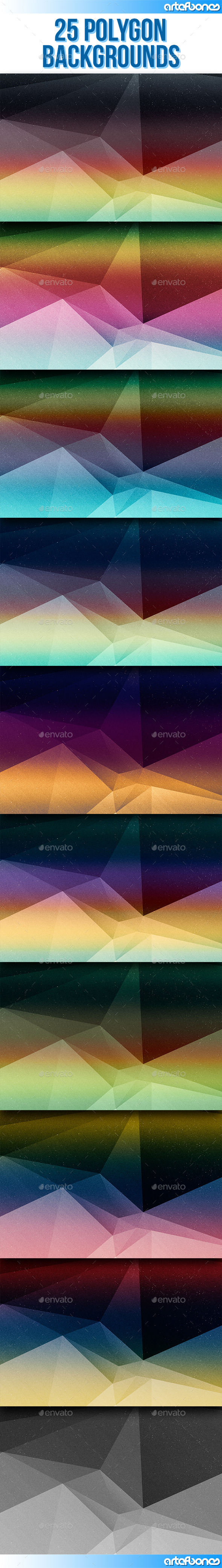 GraphicRiver 10 Polygon Backgrounds V.2 11578091
