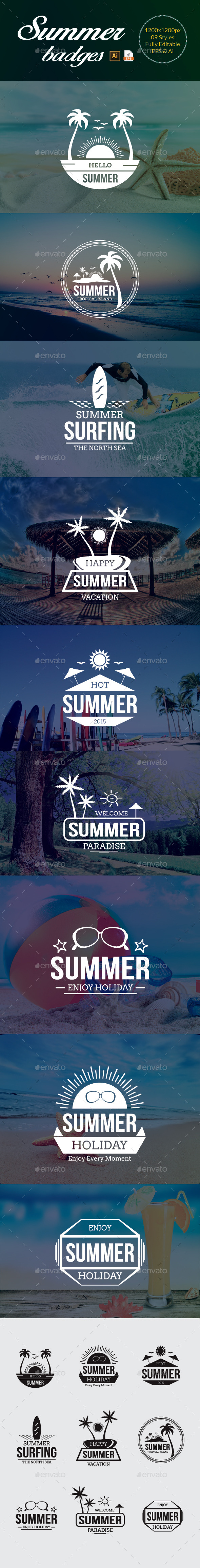 GraphicRiver Summer Badges 11578103
