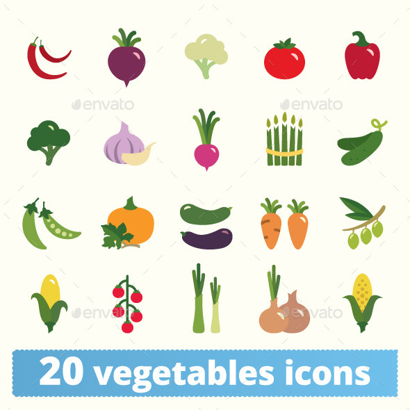 GraphicRiver Vegetables Icons 11578505