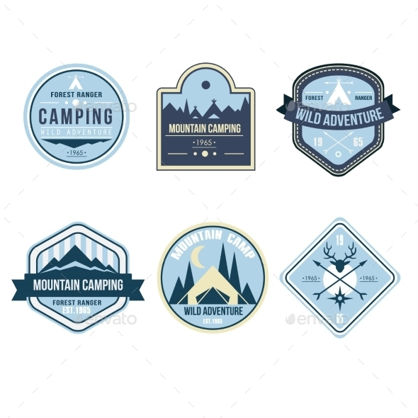 GraphicRiver Vintage Outdoor Camp Badges and Logo Emblems 11578547