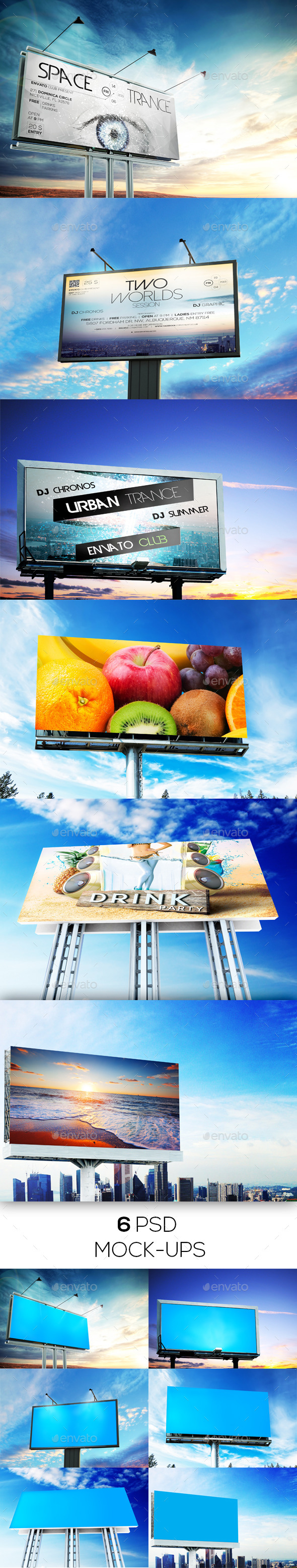 GraphicRiver 6 Billboard Mockups 11562761