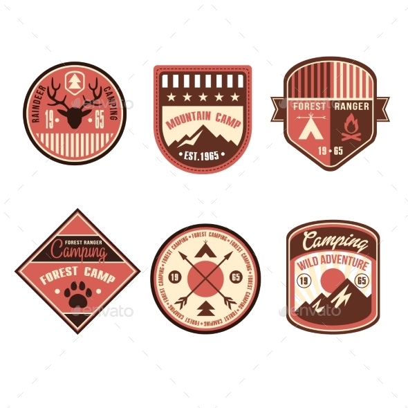 GraphicRiver Vintage Outdoor Camp Badges and Logo Emblems 11578549