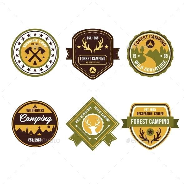 GraphicRiver Vintage Outdoor Camp Badges and Logo Emblems 11578551