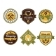Vintage Outdoor Camp Badges and Logo Emblems - GraphicRiver Item for Sale