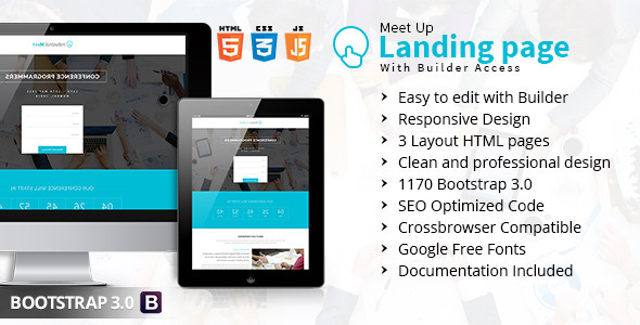 ThemeForest Meet Up Landing Page With Builder Access 11529306