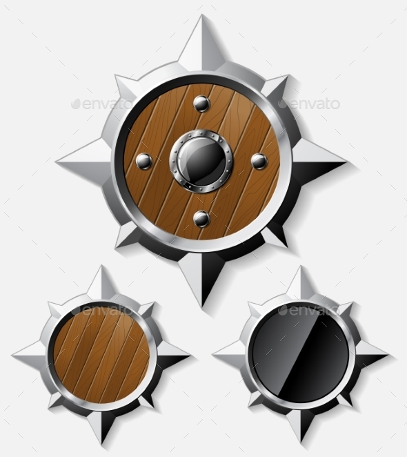 GraphicRiver Shields from Steel and Wood 11578611