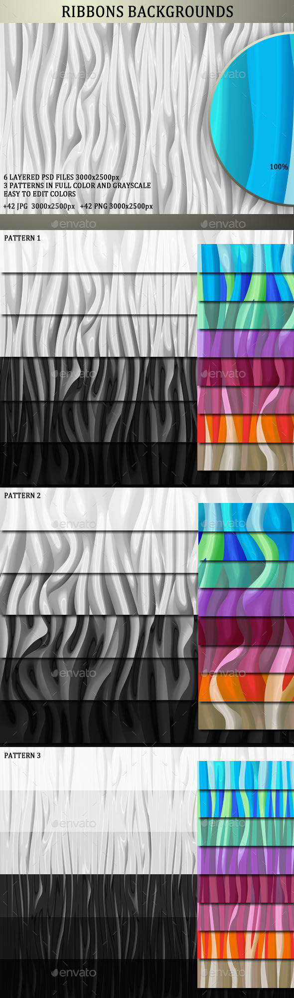GraphicRiver Abstract Ribbons Background Collection 11578679