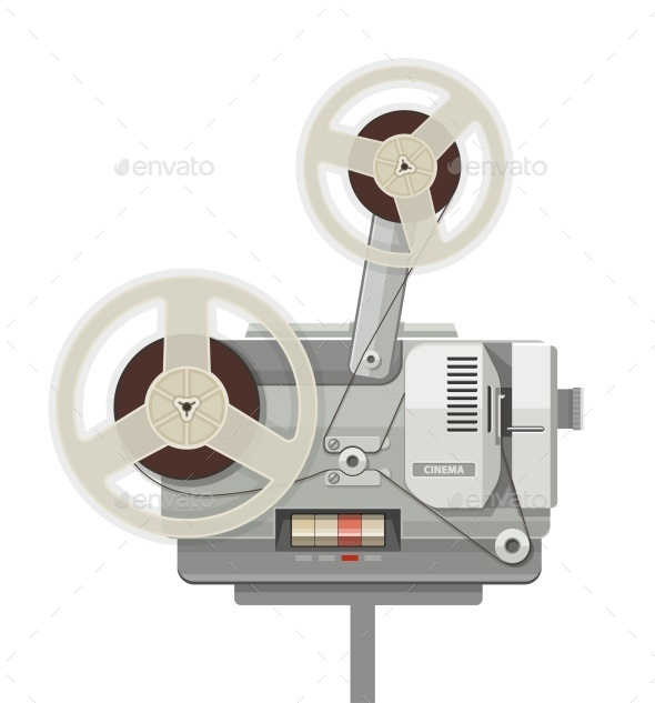 GraphicRiver Vintage Retro Cinema Projector for Film Show 11579353