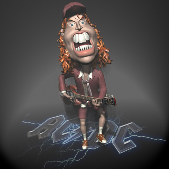 Angus Young Character toon RIGGED - 3DOcean Item for Sale