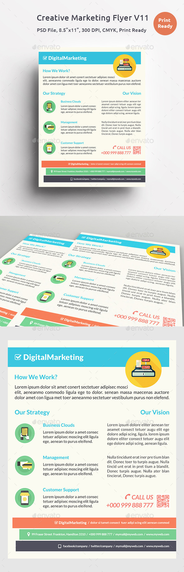 GraphicRiver Creative Marketing Flyer V11 11579467