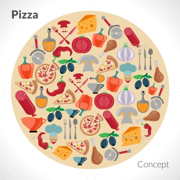 GraphicRiver Pizza Circle Concept 11579532