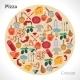 Pizza Circle Concept - GraphicRiver Item for Sale