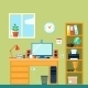 Workspace in Room - GraphicRiver Item for Sale