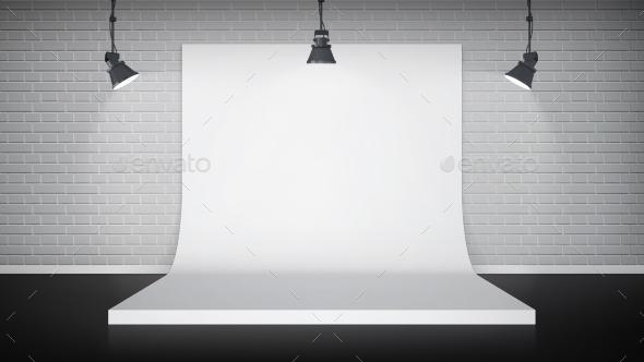 GraphicRiver Studio Interior with White Backdrop 11579556