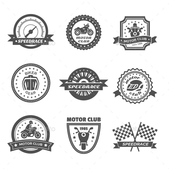 GraphicRiver Rider Label Set 11579558