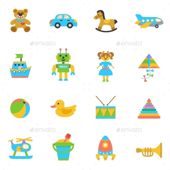 GraphicRiver Toys Flat Icon 11579603