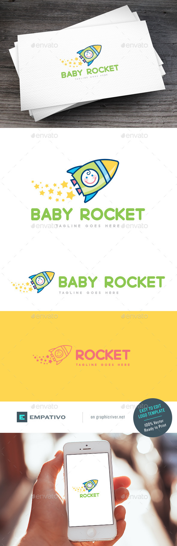 GraphicRiver Baby Rocket Logo Template 11579869
