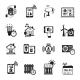 Smart House Black Icons Set  - GraphicRiver Item for Sale
