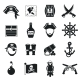 Pirate Icons Set Black - GraphicRiver Item for Sale
