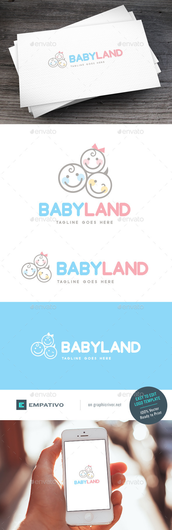 GraphicRiver Babyland Logo Template 11579877
