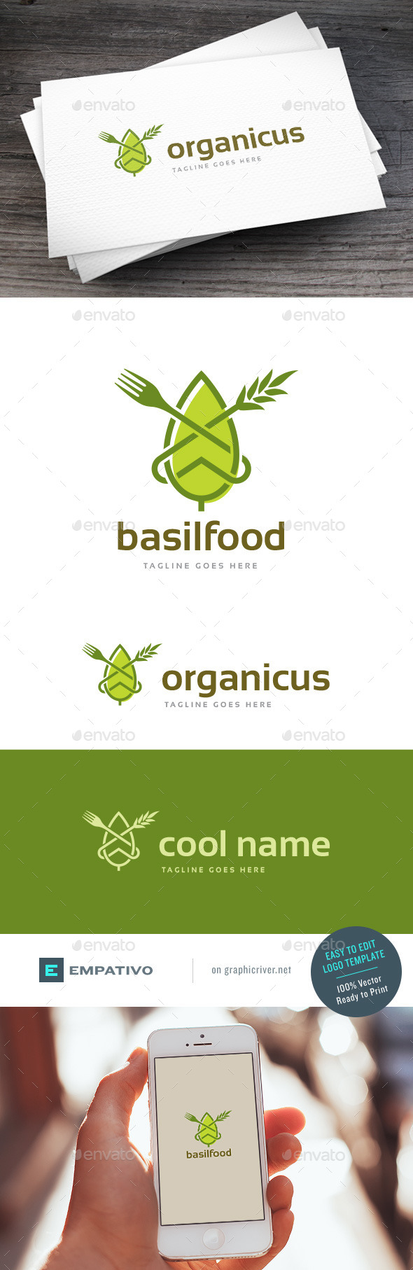 GraphicRiver Basilfood Logo Template 11579898