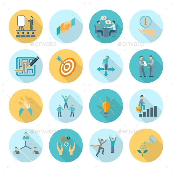 GraphicRiver Compliance Icons Flat 11579900