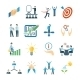 Mentoring Icons Flat Set - GraphicRiver Item for Sale