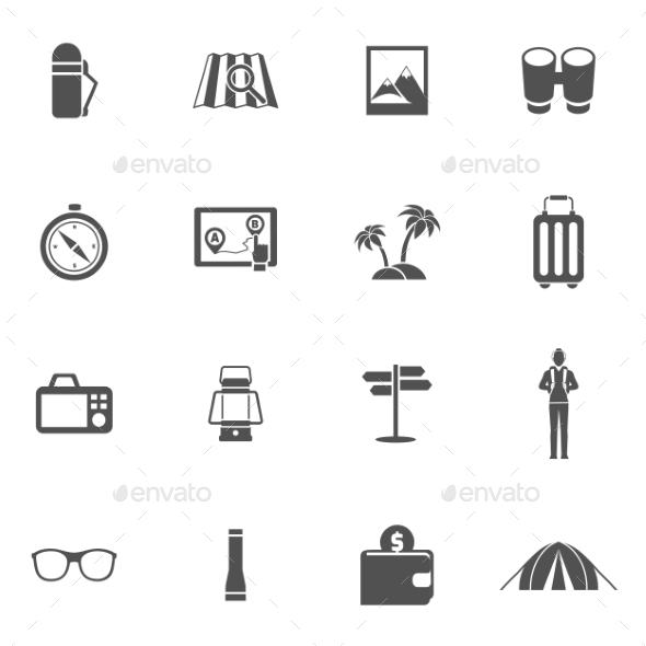 GraphicRiver Tourist Icons Set 11579903