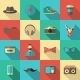 Hipster Flat Icon Set - GraphicRiver Item for Sale
