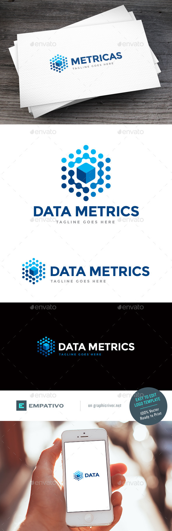 GraphicRiver Data Metrics Logo Template 11580000