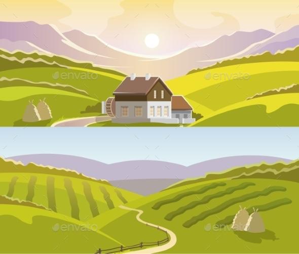 GraphicRiver Mountain Landscape Banner Set 11580268
