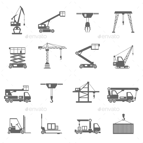GraphicRiver Lifting Equipment Icons 11580270
