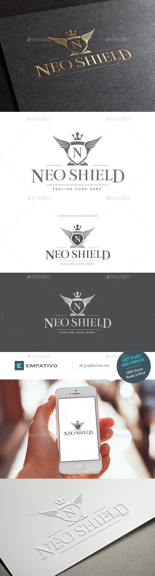 GraphicRiver Neo Shield Logo Template 11580329