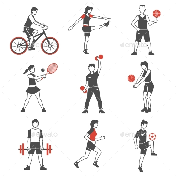 GraphicRiver Sport People Icons 11580330